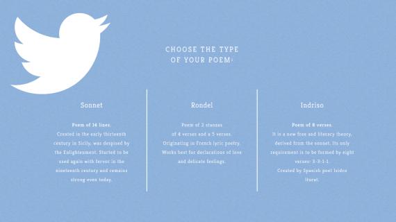 Poetweet: il sito che genera poesie dai vostri tweets